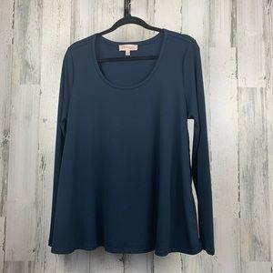 Philosophy Blue long sleeve side zipper. Size L